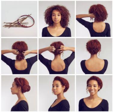 penteado cacheado - Penteados para cabelo curto e cacheado