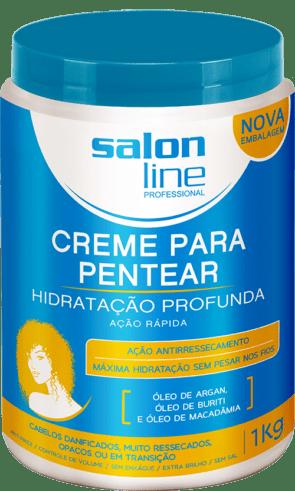 CREME PARA PENTEAR REDUTOR DE VOLUME HIDRATAÇÃO PROFUNDA SALON LINE 1KG
