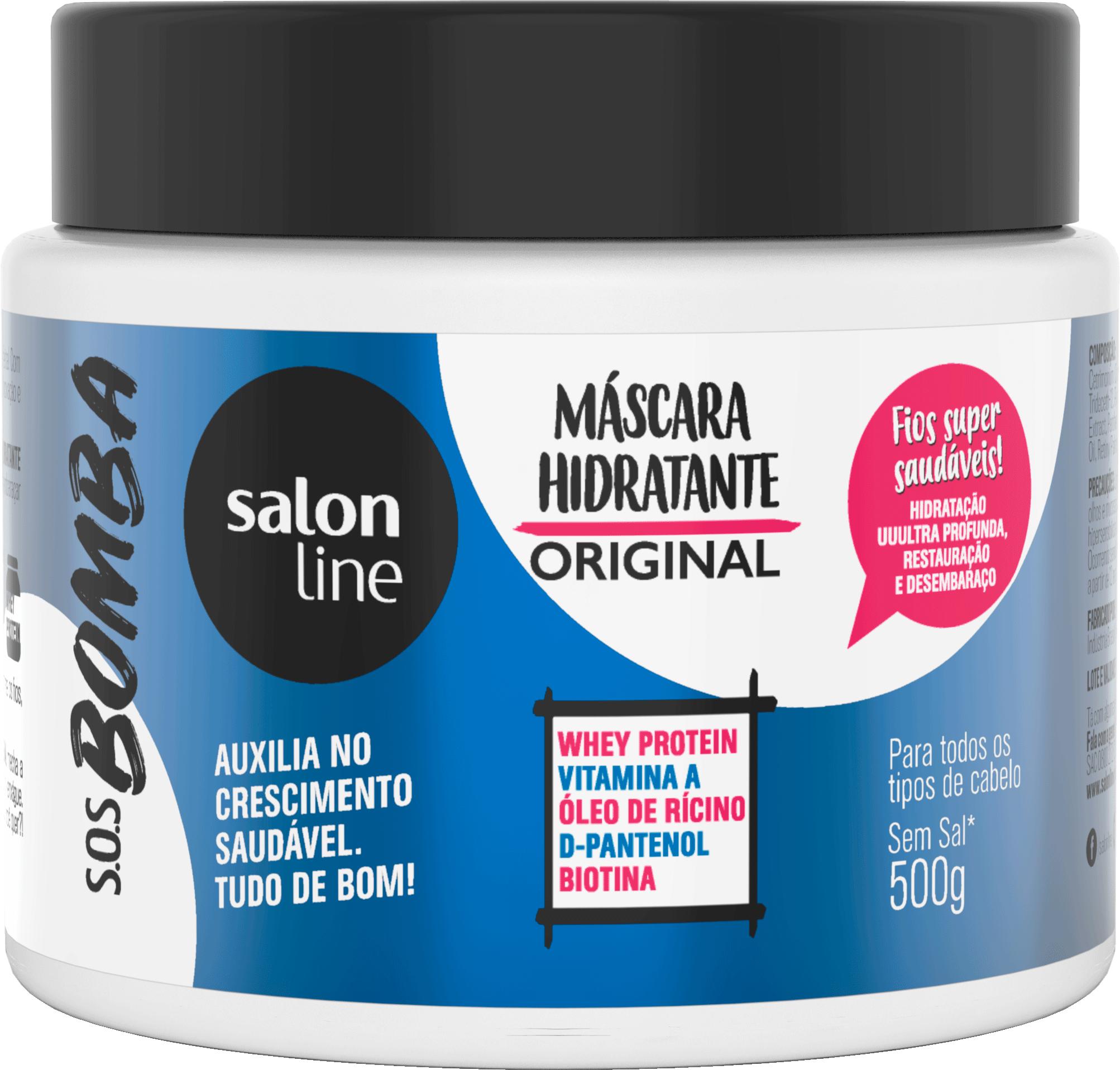 d60815cab Salon Line: faz para de cair o cabelo? Sim! Máscara Original SOS Bomba