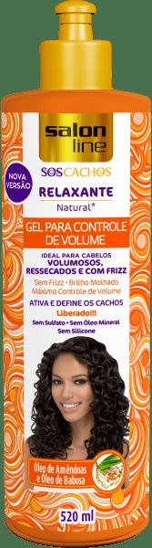 GEL RELAXANTE NATURAL S.O.S CACHOS CONTROLE DE VOLUME