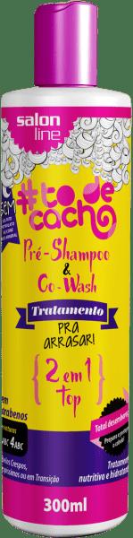 PRÉ-SHAMPOO E CO-WASH #TODECACHO – TRATAMENTO PRA ARRASAR 2 EM 1
