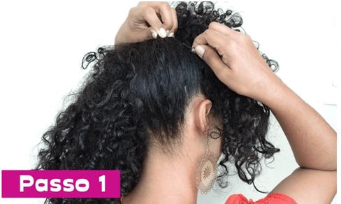 Penteado para madrinha de cabelos cacheados, ondulados e crespos