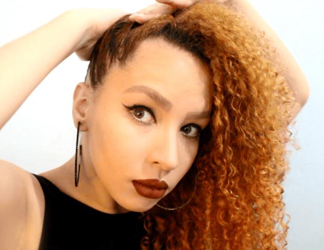 Penteado fácil e rápido para cabelos cacheados