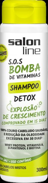 SHAMPOO DETOX S.O.S BOMBA DE VITAMINAS, 300ML