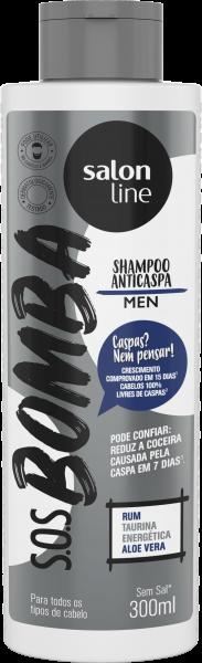 SHAMPOO ANTICASPA MEN S.O.S BOMBA
