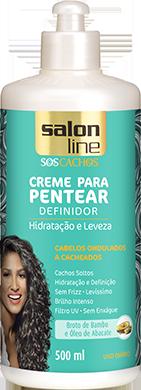 CREME PARA PENTEAR ONDULADOS A CACHEADOS S.O.S CACHOS, 500ML