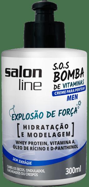 CREME PARA PENTEAR S.O.S BOMBA Men, 300ml