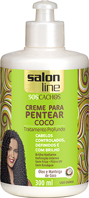 CREME PARA PENTEAR COCO S.O.S CACHOS, 300ml
