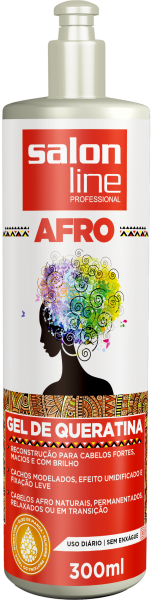 GEL DE QUERATINA AFRO, 300ml