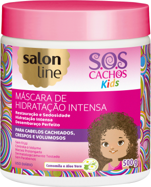 MÁSCARA DE HIDRATAÇÃO INTENSA SOS KIDS, 500g