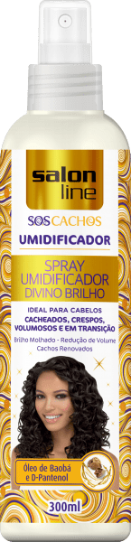 SPRAY UMIDIFICADOR S.O.S CACHOS DIVINO BRILHO SALON LINE 300ML