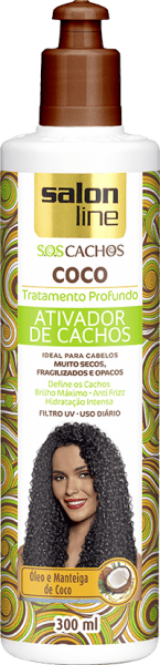 ATIVADOR S.O.S CACHOS COCO 300ML SALON LINE
