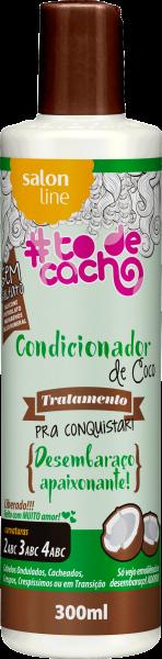 CONDICIONADOR DE COCO – TRATAMENTO COSMÉTICO PRA CONQUISTAR – {DESEMBARAÇO APAIXONANTE!}, 300ML