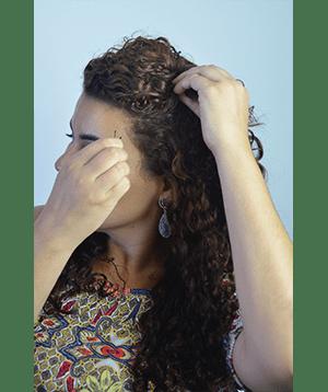 CAMILA 5 - Coque despretensioso lateral (ou não!) com topetinho!