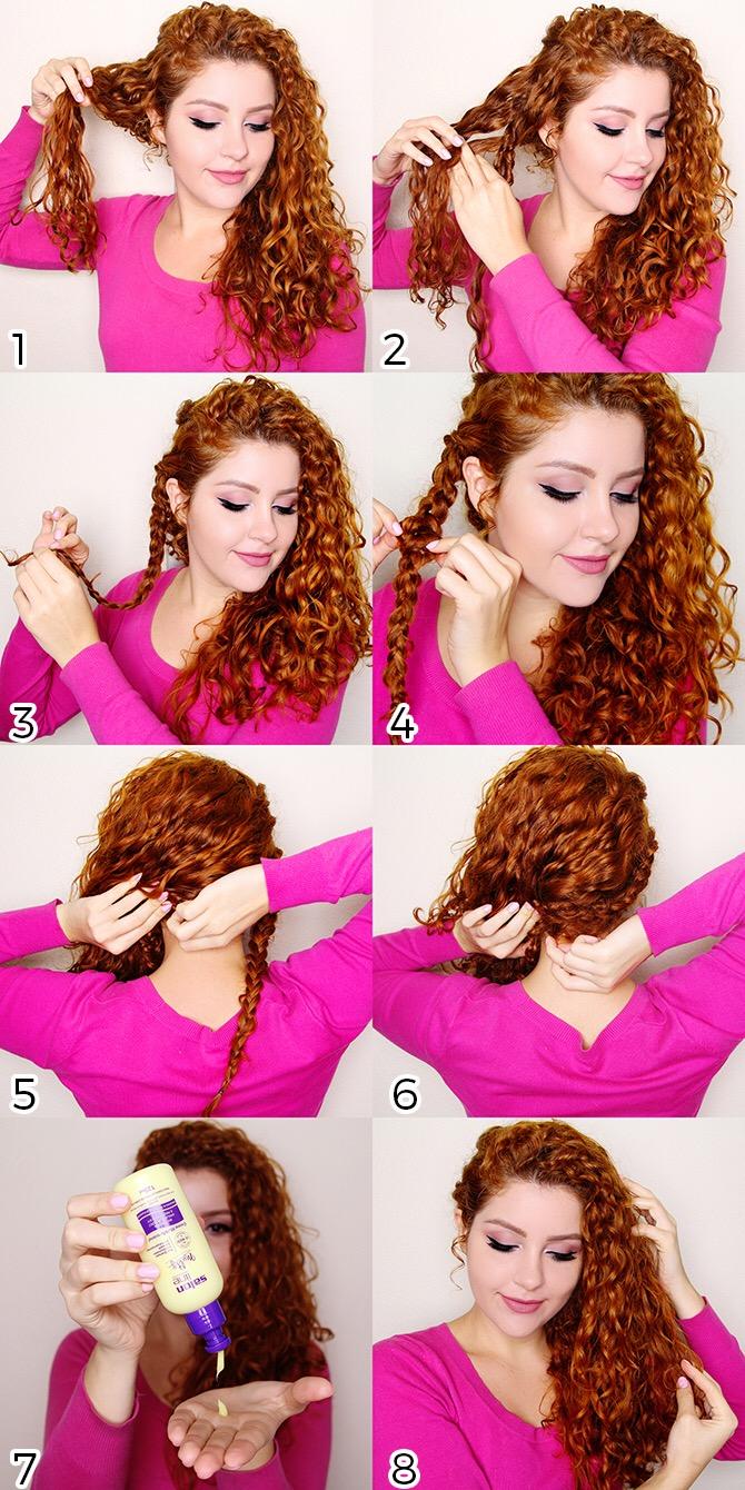 Tutorial: penteado meio preso para cabelos ondulados
