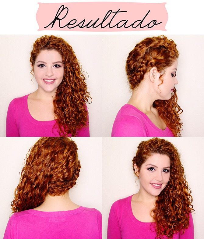 To De Cacho Tutorial de Penteado para Cabelo Cacheado Daianne Possoly 2 - Tutorial: penteado meio preso para cabelos ondulados