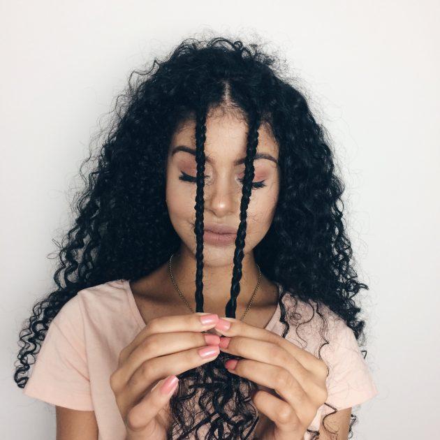 semipreso estilo boho 1 630x630 - Penteados passo a passo: tutoriais de penteados com trança, coque , semipreso e outros