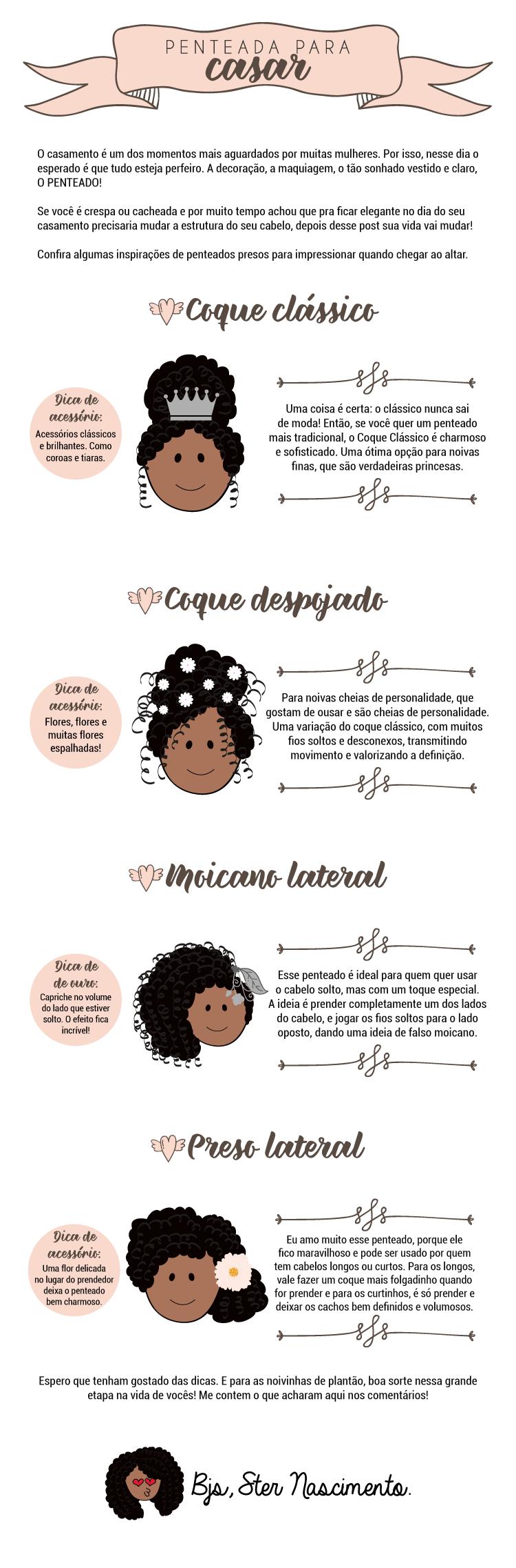 Penteado  - Penteados para noivas: arrase no grande dia!