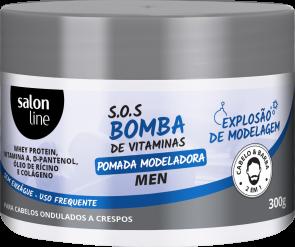Pomada Modeladora Men – Explosão de Modelagem S.O.S Bomba de Vitaminas