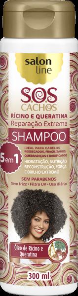 SHAMPOO DE RÍCINO E QUERATINA – REPARAÇÃO EXTREMA S.O.S CACHOS