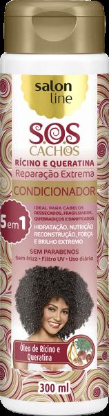 CONDICIONADOR DE RÍCINO E QUERATINA – REPARAÇÃO EXTREMA S.O.S CACHOS
