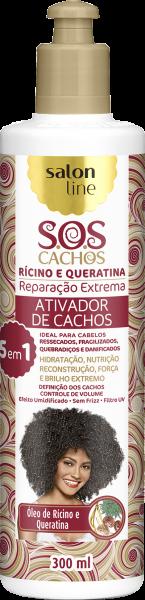 ATIVADOR DE CACHOS RÍCINO E QUERATINA – REPARAÇÃO EXTREMA S.O.S CACHOS
