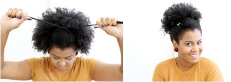 penteado afro puff 1 - Penteados fáceis: dicas e passo a passo de penteados para fazer em casa