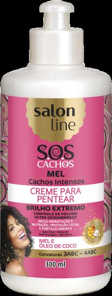CREME PARA PENTEAR S.O.S CACHOS MEL – CACHOS INTENSOS
