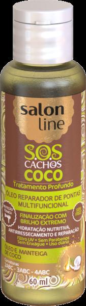 ÓLEO REPARADOR DE PONTAS MULTIFUNCIONAL COCO TRATAMENTO PROFUNDO – S.O.S CACHOS