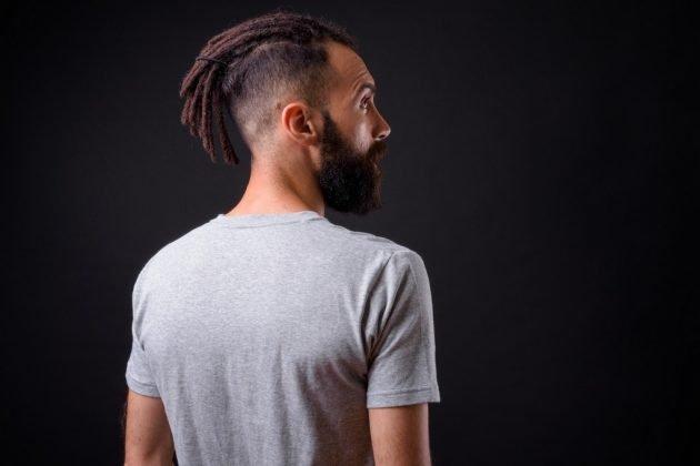 Corte degradê com dreads 630x420 - Corte degradê: dicas e ideias de corte degradê masculino