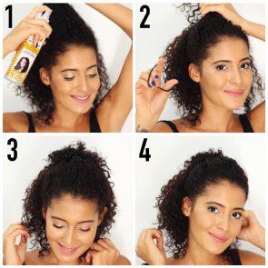 3 penteados para cabelo cacheado curto