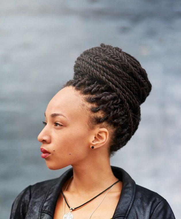 Penteados com tranças 4 630x763 - Penteados com tranças: lateral, embutida, afro, enraizada e mais