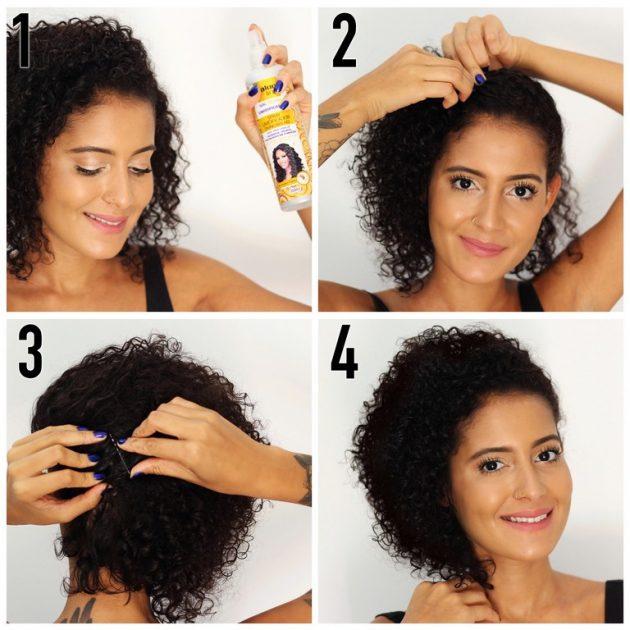 penteado para cabelo cacheado curto 630x630 - Penteado para cabelo cacheado curto: dicas e inspirações para todas as ocasiões