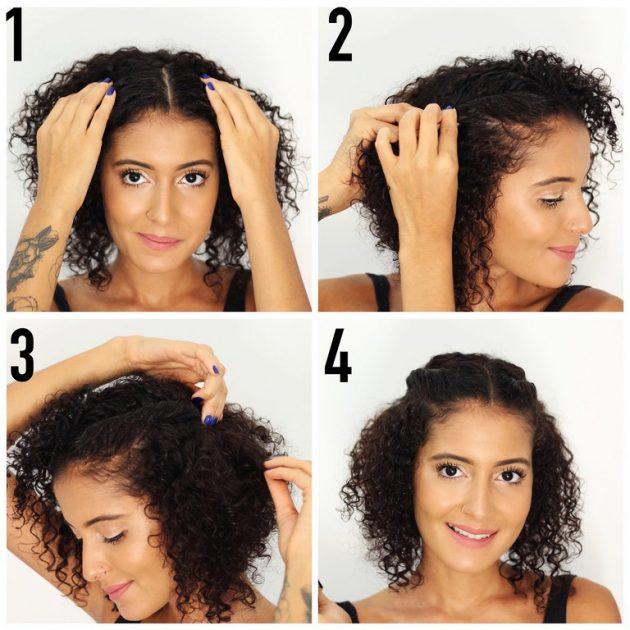 penteado para cabelo cacheado curto1 630x630 - Penteado para cabelo cacheado curto: dicas e inspirações para todas as ocasiões