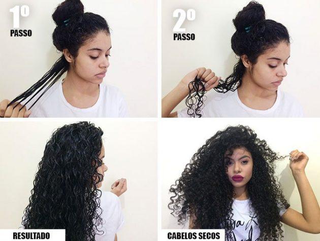 como cachear 3 630x475 - Como cachear o cabelo: aprenda a fazer fitagem, dedoliss, plopping, twists e outras técnicas