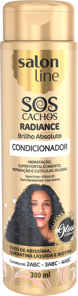 CONDICIONADOR S.O.S CACHOS RADIANCE – BRILHO ABSOLUTO