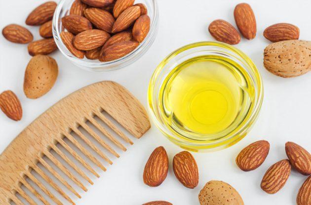 oleo de amendoas cabelo 630x417 - Saiba quais são os óleos capilares mais famosos e seus benefícios